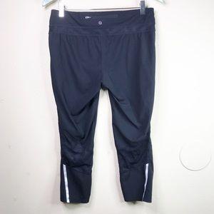 tangerine black mesh cropped leggings yoga pant